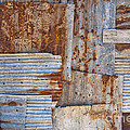 Corrugated Iron Background by Antony McAulay
