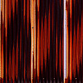 Corrugated Patterns In Orange And Black by Greg Kluempers