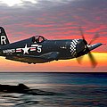 Corsair At Sundown by Craig Purdie