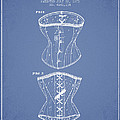 Corset Patent From 1873 - Light Blue by Aged Pixel