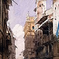 Corso Saint Anastasia, Verona by Richard Parkes Bonington