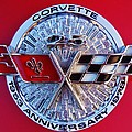 Corvette 25th Anniversary Emblem 1 by Mark Lemmon