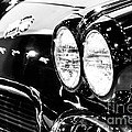 Corvette Picture - Black And White C1 First Generation by Paul Velgos