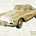 Corvette Sport Car Catus 1 No 2 by Gert J Rheeders