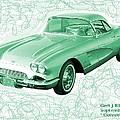 Corvette Sports Car Catus 1 No 3 by Gert J Rheeders