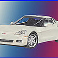 Corvettes In Red White And True Blue by Jack Pumphrey