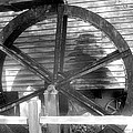 Cosley Mill Waterwheel In Black And White by James Potts