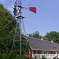 Cosley Zoo Windmill And Barn by Laurie Eve Loftin