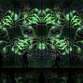 Cosmic Alien Vixens Green by Shawn Dall