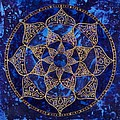 Cosmic Blue Lotus by Charlotte Backman