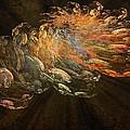 Cosmic Dust And Light Beauty Fine Fractal Art by Georgeta  Blanaru