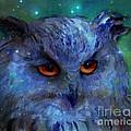 Cosmic Owl Painting by Svetlana Novikova