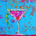 Cosmopolitan Martini Cherry Flavored - Modern Art by Patricia Awapara