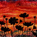 Cosmos and Red Sunset