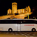 Cosmos Tour Bus At Asisi Italy by David Coblitz