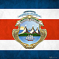 Costa Rica Coat Of Arms And Flag  by Serge Averbukh