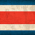 Costa Rica Flag Vintage Distressed Finish by Design Turnpike