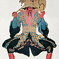 Costume Design For A Chinaman by Leon Bakst