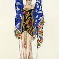 Costume Design For A Dancing Girl by Leon Bakst