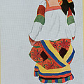 Costume Design For A Peasant Girl, 1922 by Leon Bakst