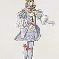 Costume Design For Geometry In A 17th by French School