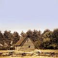 Cottage And Splitrail Fence by Jill Battaglia
