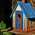 Cottage Birdhouse by VLee Watson