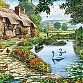 Cottage By The Lake by Steve Crisp