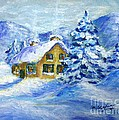 Cottage In The Winter by Cristina Stefan