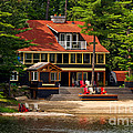 Cottage On A Lake by Les Palenik