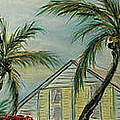 Cottage Rooftops And Palm Trees Harbor Island by Barbara Dalton