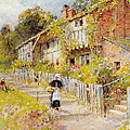 Cottages   A Row Of Cottages by William Stephen Coleman