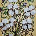 Cotton #2 - Cotton Bolls by Eloise Schneider