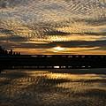 Cotton Ball Clouds Sunset by Marilyn MacCrakin