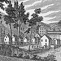Cotton Factory Village, Glastenbury, From Connecticut Historical Collections, By John Warner by American School