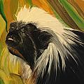 Cotton Top Tamarin Zack Half Of All Proceeds Go To Jungle Friends Primate Sanctuary by Helene Thomason