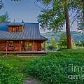Cottonwood Cottage At Sunset by Omaste Witkowski