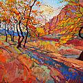 Cottonwood Shadow by Erin Hanson