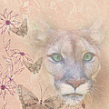 Cougar And Butterflies by Delores Knowles