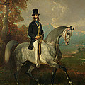 Count Alfred De Montgomery 1810-91 1850-60 Oil On Canvas by Alfred Dedreux