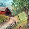 Country Barn by Judi Pence