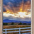 Country Beams Of Light Pealing Picture Window Frame Vie by James BO Insogna