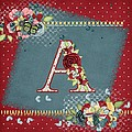 Country Charm Monogramed A by Debra  Miller