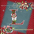 Country Charm Monogramed L by Debra  Miller