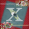 Country Charm Monogramed X by Debra  Miller