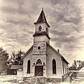 Country Church - Buffalo Gap South Dakota by HW Kateley