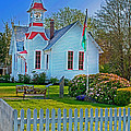 Country Church In Oysterville Wa by Valerie Garner