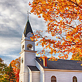 Country Church Under Fall Colors by Jeff Folger