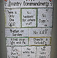 Country Commandments by Beth Vincent