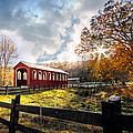 Country Covered Bridge by Debra and Dave Vanderlaan